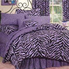 Purple zebra comforter~Ayda!