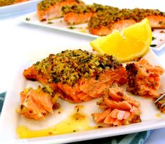 Roasted Salmon with a Lemon-Herb Matzo Crust   Noble Pig