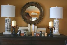 Simple fall decor with books