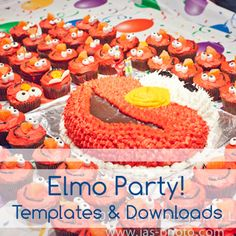 all the supplies you need for an awesome elmo party with tons of free downloads!