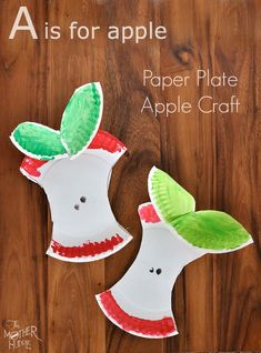 Paper Plate Apple Craft - The Mother Huddle    They could fingerprint their Apple yellow, green, red or a mixture of colors.