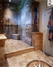 large shower with no door