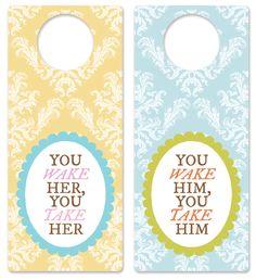 babi door, shower gifts, nurseri door, door hanger, baby gifts