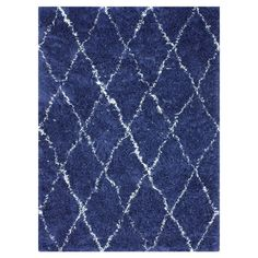 Wool shag rug with a diamond trellis motif. Handmade in India. 5x7  $240 Product: RugConstruction Material: 100% Wool