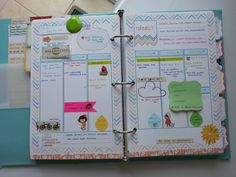 Custom templates in Filofax by Homemade Kraft - super cute.