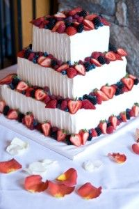 fruit on top of cake