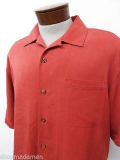 Tommy Bahama 100 Silk Hawaiian Camp Shirt Sz 2xlt Mens