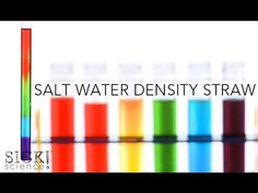 Salt water density lab.  Cool!