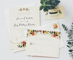 Rustic Antler  Floral Wedding Invitation Suite by KelliMurrayArt, $4.75