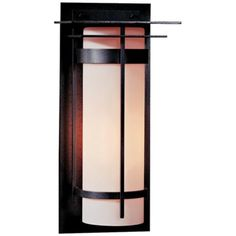 "Hubbardton Forge Banded 20 1/2"" High CFL Outdoor Wall Light 