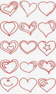 Free Embroidery Designs: Hearts - I Sew Free