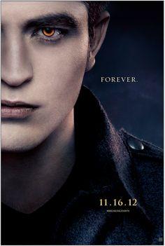 New Edward poster for #BreakingDawn Part 2! #BD2 #Twilight Repin if you're #TeamEdward! break dawn, cant wait, robert pattinson, kristen stewart, edward cullen, poster, book, breaking dawn, twilight saga