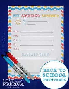 Back To School Print