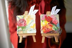Mini Masterpiece favors or place cards