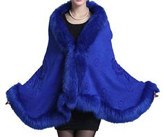 Helan Women's Faux Fox Fur Shawl Cloa... for only $39.99