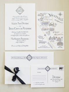 Pretty wedding invites via Cooper Carras