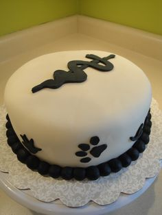 "Hopefully an eventual vet school graduation cake? All it's missing is the ""V"""