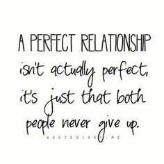 A Perfect Relationship...