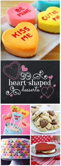 99 Heart Shaped Treats...lots of great looking treats!