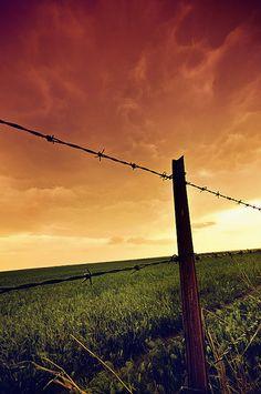 Western Oklahoma plains--calm before the storm
