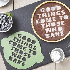 Good things come to those who bake stencil