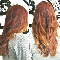 hair color idea: red with blond. need as many pinned as possible so the hairstylist has some ideas!