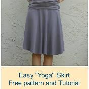 Yoga Skirt - via @Craftsy