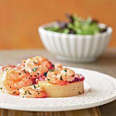 Superfast Italian Recipes | Smoky Shrimp and Parmesan-Polenta Cakes | CookingLight.com