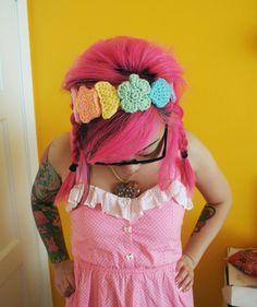 Rainbow Marshmallow Headband by TwinkieChan on Etsy