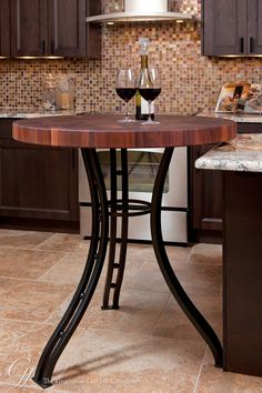 Sapele Mahogany Butcher Block Table in Florida
