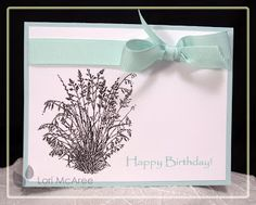 Smiling while Stamping: Happy Birthday Card made using Enjoy Life Penny Black stamp set