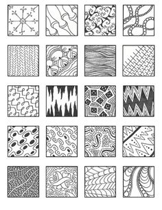 ZENTANGLE PATTERNS noncat 2 | Flickr - Photo Sharing!