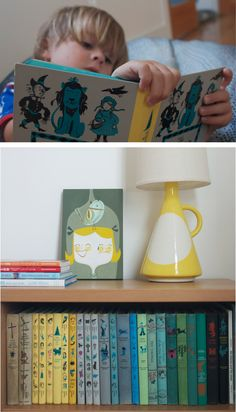 Kidsroom decoration Vintage books