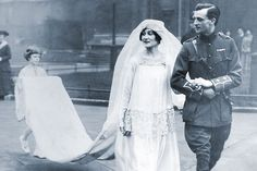 John, 9th Duke of Rutland, and his bride, Kathleen Tennant (Kakoo), on their wedding at St Margarets Church, Westminster, on January 27, 1916