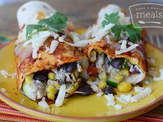 Sweet Summer Vegetable Enchiladas