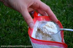 making ice cream in a bag - easy