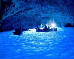 Island of Capri, the blue cave.
