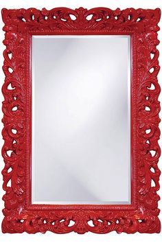 For the decor-loving Valentine, we love this red Barcelona Wall Mirror which would look perfect in a narrow hallway or tiny powder room! #vday #valentines