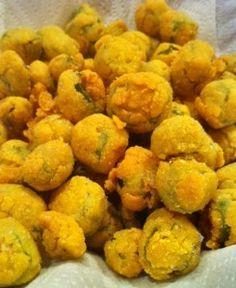 Gluten Free Fried Okra.... beware. It's addicting.