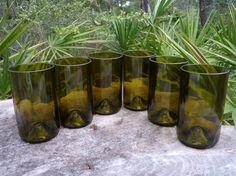 Wine Bottle Tumblers - Set of 6 $44.00