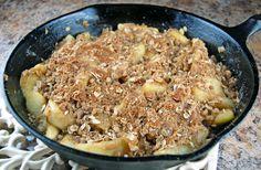 skillet apple crisp - done in 20 minutes