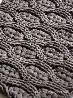 Puff stitch and crochet cables