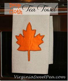 Drop Cloth Tea Towel by Sweet Pea