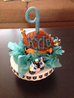Lego themed no frosting Happy Birthday Cake