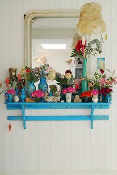blue shelf...