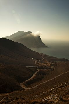 This is my Greece   Mt. Kalamos, a monolithic peak among the largest in the Mediterranean on Anafi island, Cyclades
