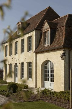 New French Country style home, built to look centuries old...