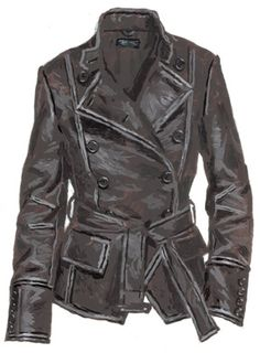 I can't even tell you how in love  I am with this jacket from J. Peterman. I havent' had a leather coat in years and it is the bomb. Extra warm with mandarin collar up, awesome belt action, thick and soft. I ordered up for shoulder room, in a size12 it still just comes to my wrists. LOVE.