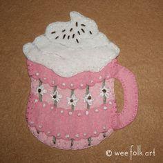 Cup of Cocoa Applique Block | Wee Folk Art