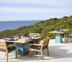 Imagine eating here on the water at Southern Ocean Lodge.